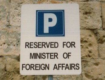 Reserved for Minister of foreign affairs
